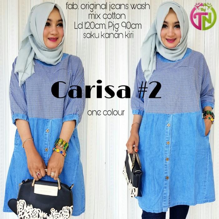 Source · Jual Blouse Jeans Muslim Tunik Casual Baju Atasan Wanita Terbaru