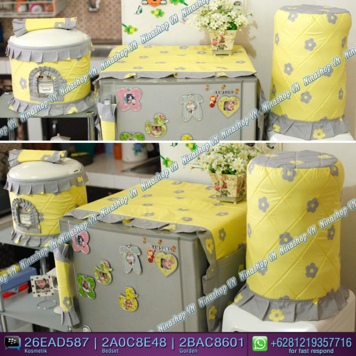harga Sarung galon, cover kulkas, tutup kulkas motif bunga tabur Tokopedia.com
