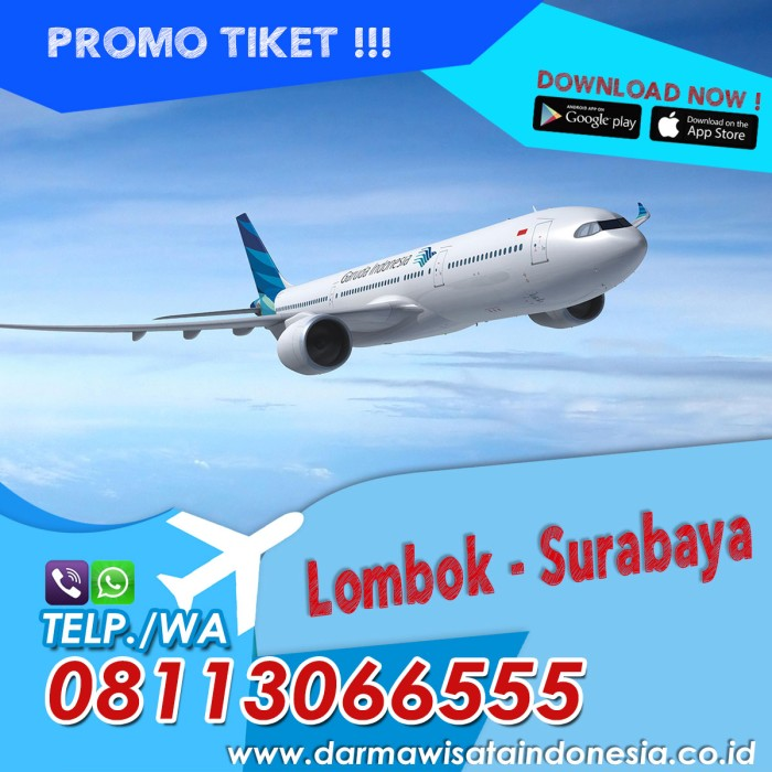 jual promo tiket pesawat murah lombok surabaya kota surabaya rh tokopedia com
