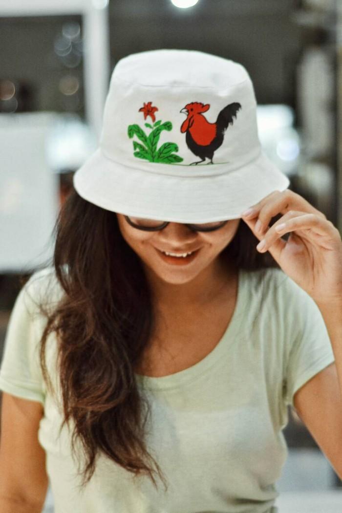 Jual topi bucket hat kupluk mangkok bakso mie ayam jago - snick  o ... 9d0a1a2bb25