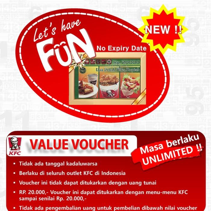 5 Lembar Voucher Sodexo 100000 Daftar Harga Terkini dan Terlengkap Source Voucher KFC .