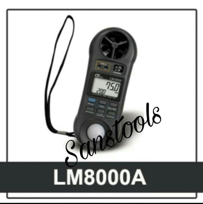 Foto Produk lutron lm-8000 anemometer hummidity light meter thermometer asli dari Sanstools