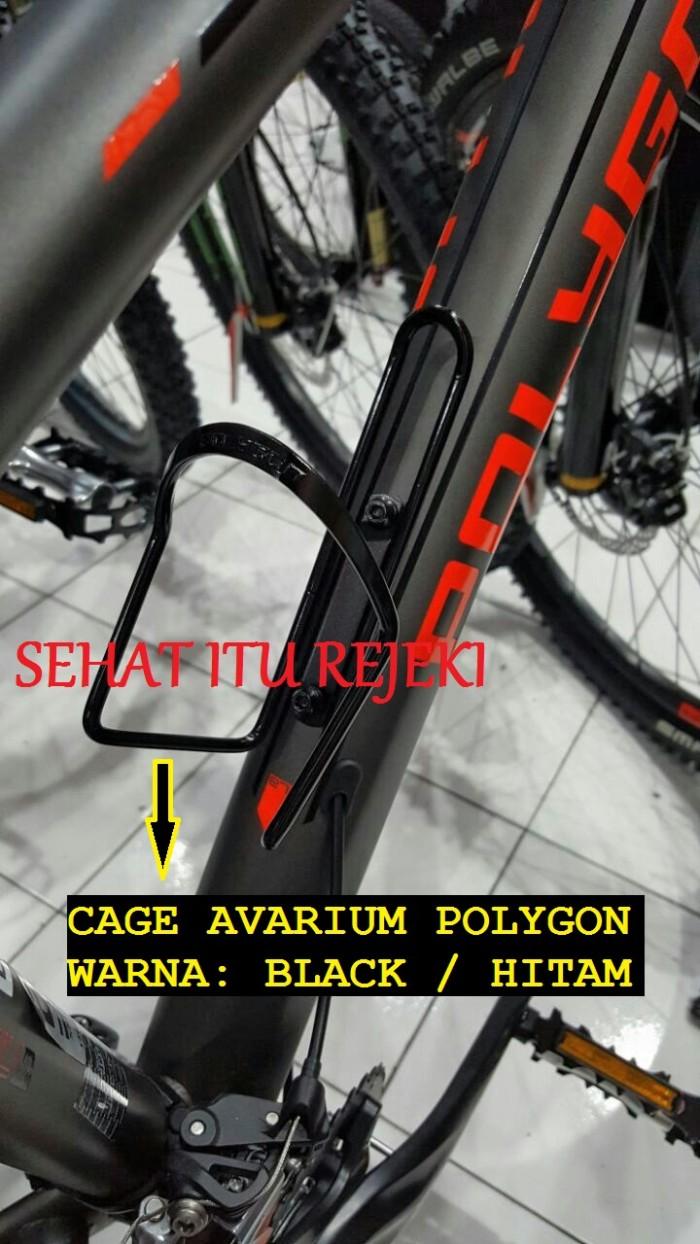 Foto Produk BOTTLE CAGE AVARIUM / TEMPAT BOTOL AIR MINUM DI SEPEDA BY POLYGON - Hitam dari Sehat Itu Rejeki