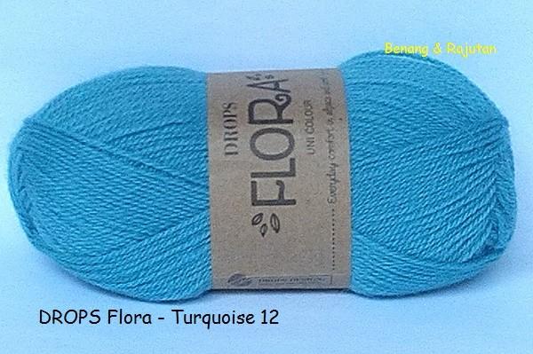 harga Drops flora biru - benang rajut import/impor wool/wol alpaca Tokopedia.com