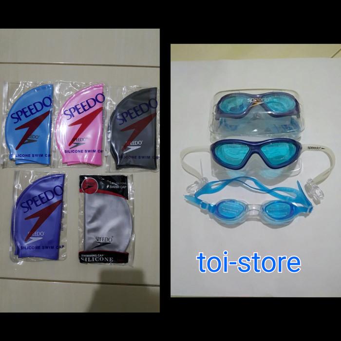 harga Kacamata renang speedo 9100 + topi renang Tokopedia.com