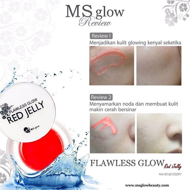 red jelly ms glow by cantik skincare