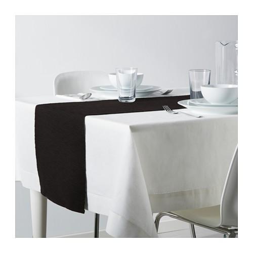1.ikea marit taplak panjangtaplak dekorasirunner 30 x 135 cm hitam