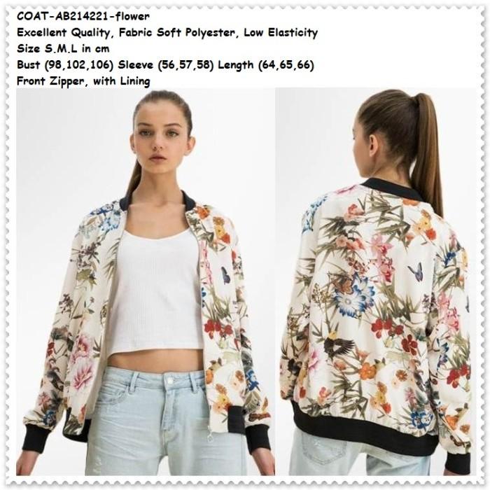 Jual Outer Jaket Jacket Putih Coat Bomber Bunga Baju Wanita Korea ... 5e032827f6