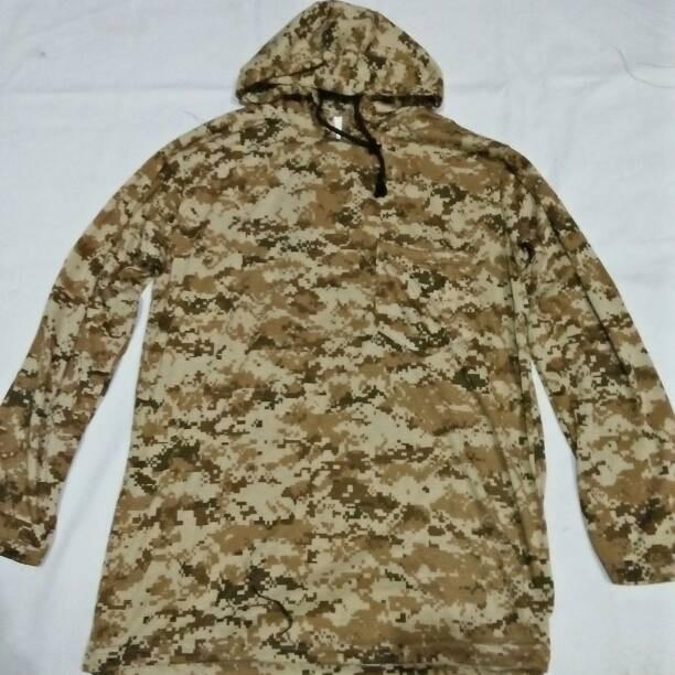 Long hoodie t-shirt desert/kaos panjang hoodie loreng digital gurun
