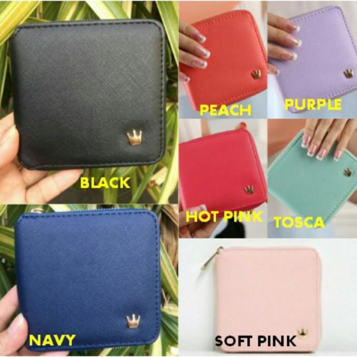 Dompet wanita import crown zipper wallet kecil fashion korea imut lucu