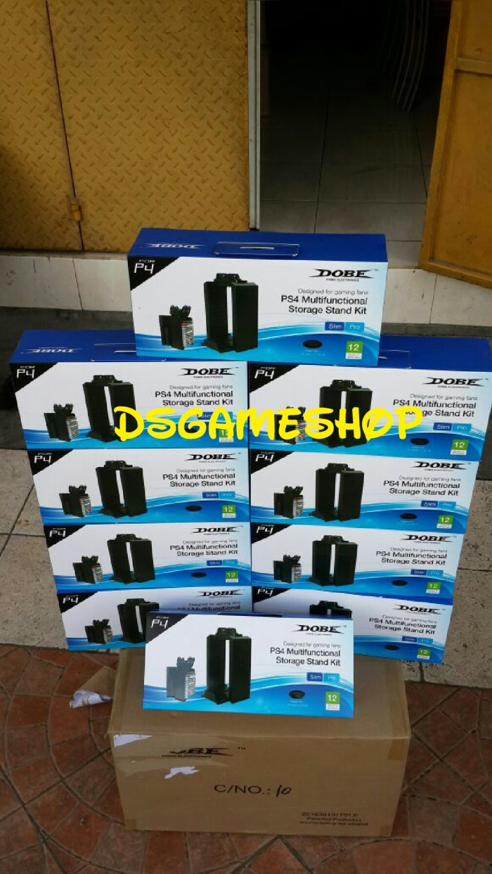 Jual Ps4 Multifuctional Storage Stand Kit Dobe Tempat Blueray Bd Multifunctional Dsgameshop Tokopedia
