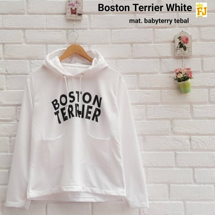 Jual BOSTON TERRIER HOODIE hoody sweater black pink white blue pastel kpop  - Kab  Sukabumi - Beauteen SHOP | Tokopedia
