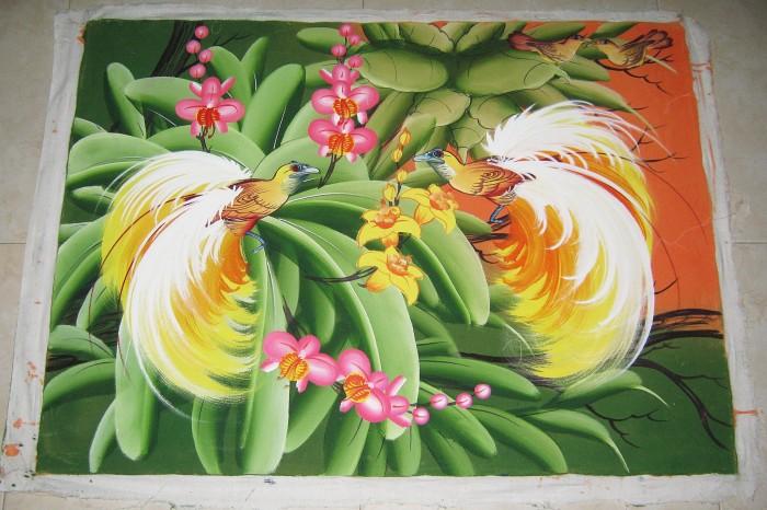 harga Lukisan burung cendrawasih asli dari bali Tokopedia.com