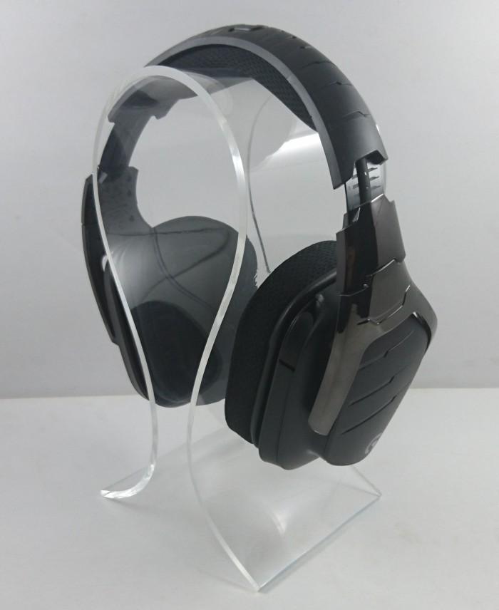 harga ( ) omega headphone stand / gantungan headphone 4mm black / clear Tokopedia.com
