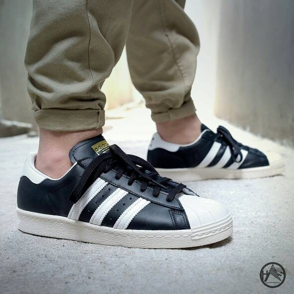 ef6ac4c20089 Jual Adidas Superstar 80s DLX Core Black Off White Chalk ...
