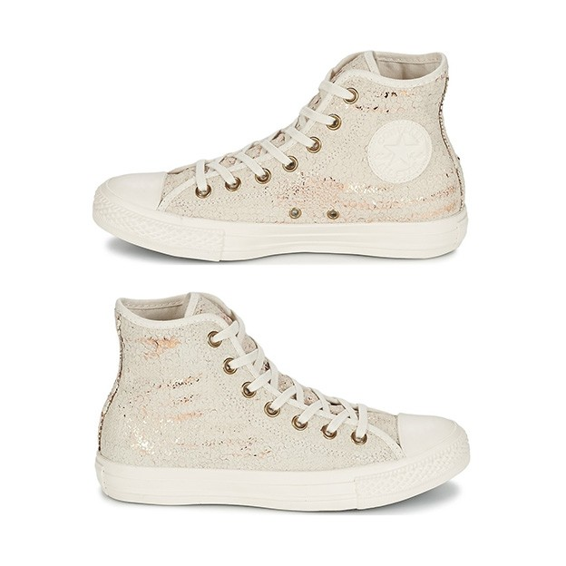 Sepatu Converse Women Distressed Sequins White HI 551553 Original 100% 46a99fe702