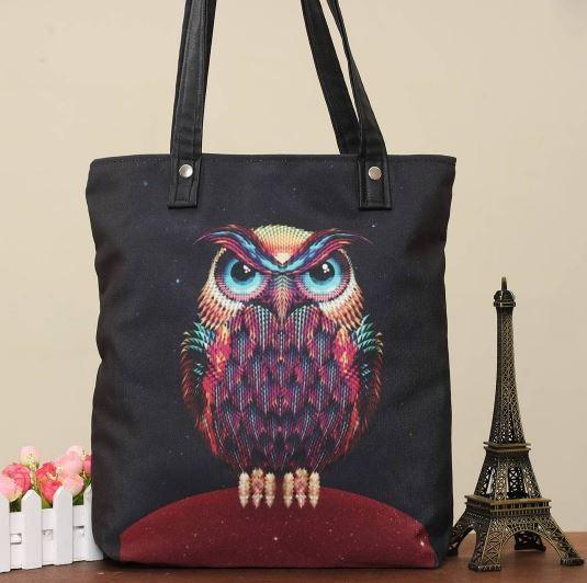 harga Totebag owl photo/black | tas wanita kualitas premium Tokopedia.com