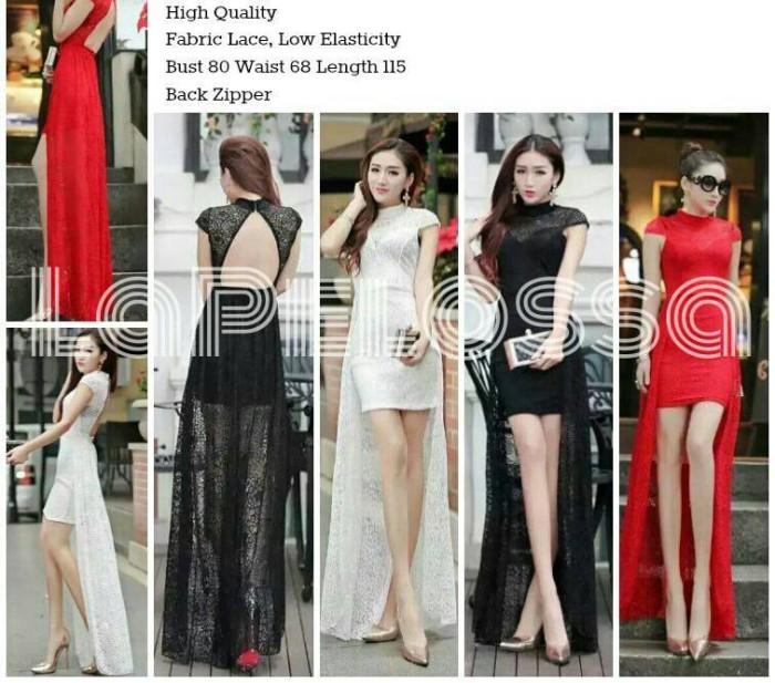 Foto Produk Dress Backless Import Code IW dari LaPelosa Shop