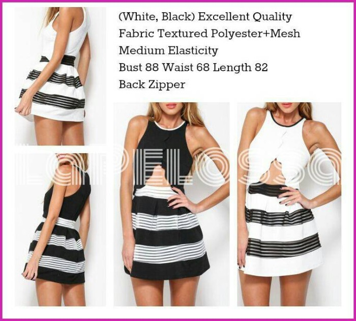 Foto Produk Dress Combi Stripe Import Code IW dari LaPelosa Shop