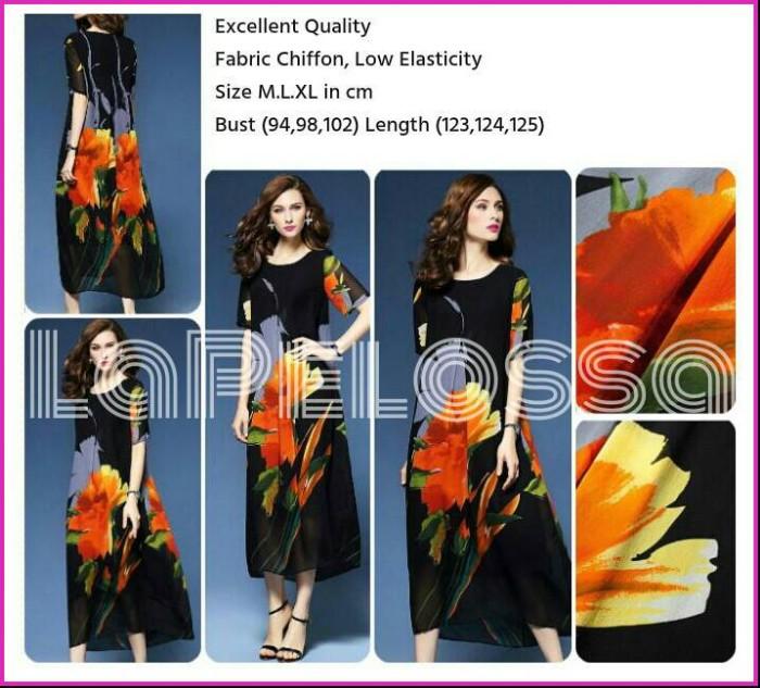Foto Produk Jumbo Size Flower Dress Import Code IW dari LaPelosa Shop