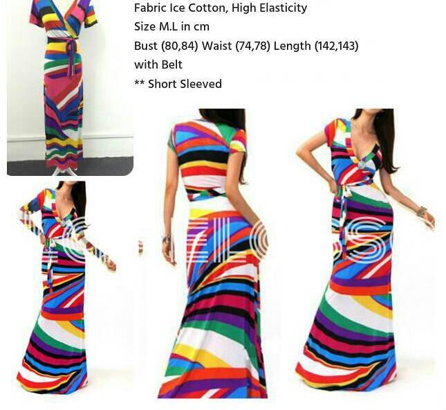 Foto Produk LongDress Rainbow Import Code IW dari LaPelosa Shop