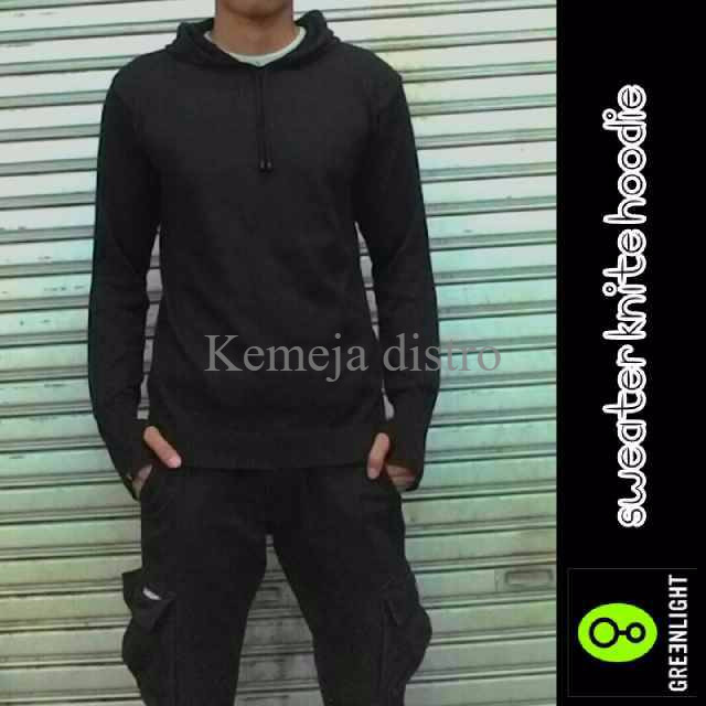 Sweater Knite Hoodie Black Greenlight