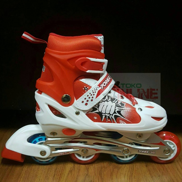 Jual sepatu roda inline skate power merah cek harga di PriceArea.com a7cae0eb8e