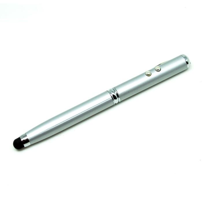 harga 4 In 1 Stylus Capacitive Touch Pen + Ballpoint + Pointer + White Light Tokopedia.com
