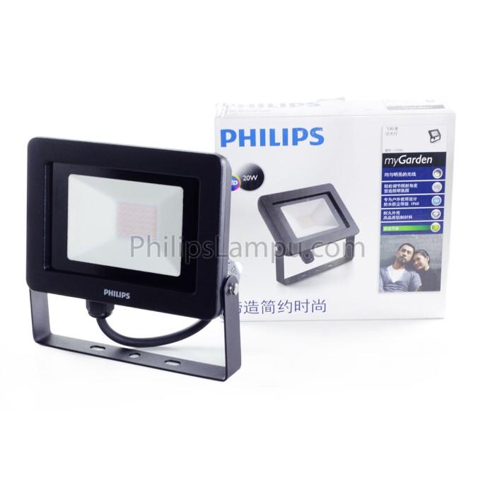 Foto Produk Lampu Sorot LED Outdoor Philips 17342 20W Kuning Tembak dari philipslampu
