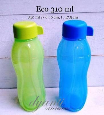 Tupperware Eco Bottle 310ml (Biru+hijau )