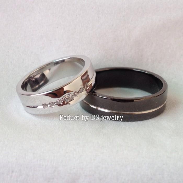 Custom cincin kawin perak finishing black rhodium