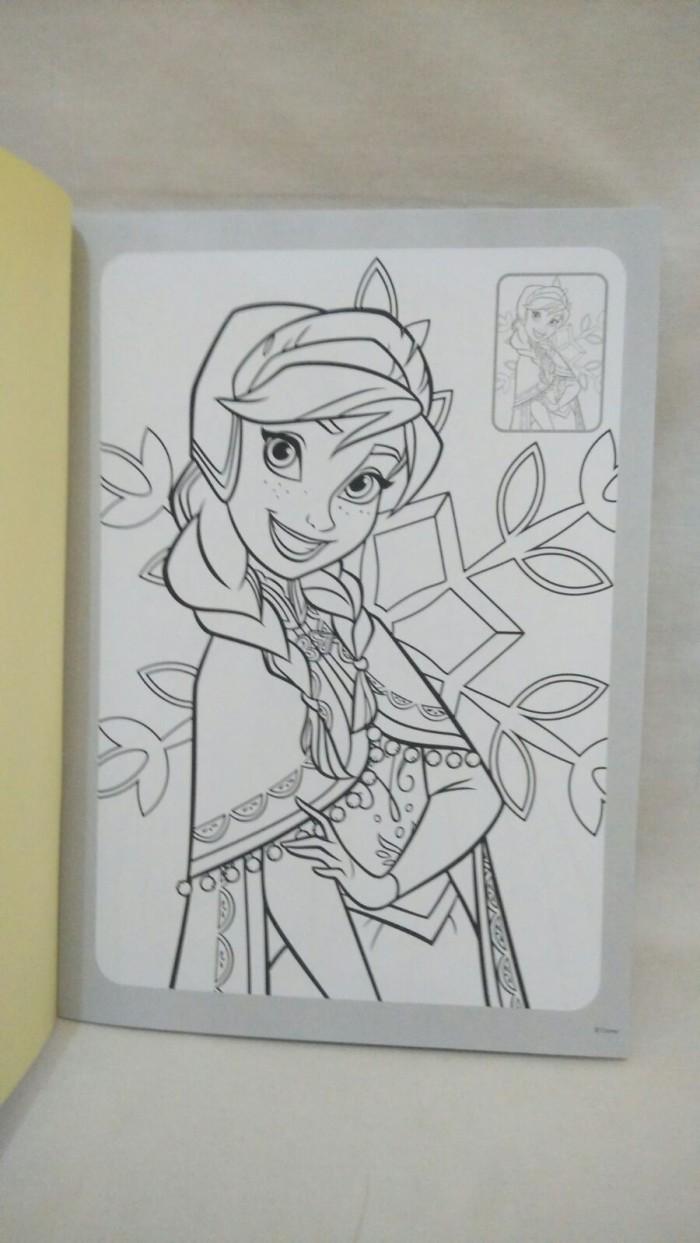 Coloring And Drawing Mewarnai Elsa Dan Anna Frozen