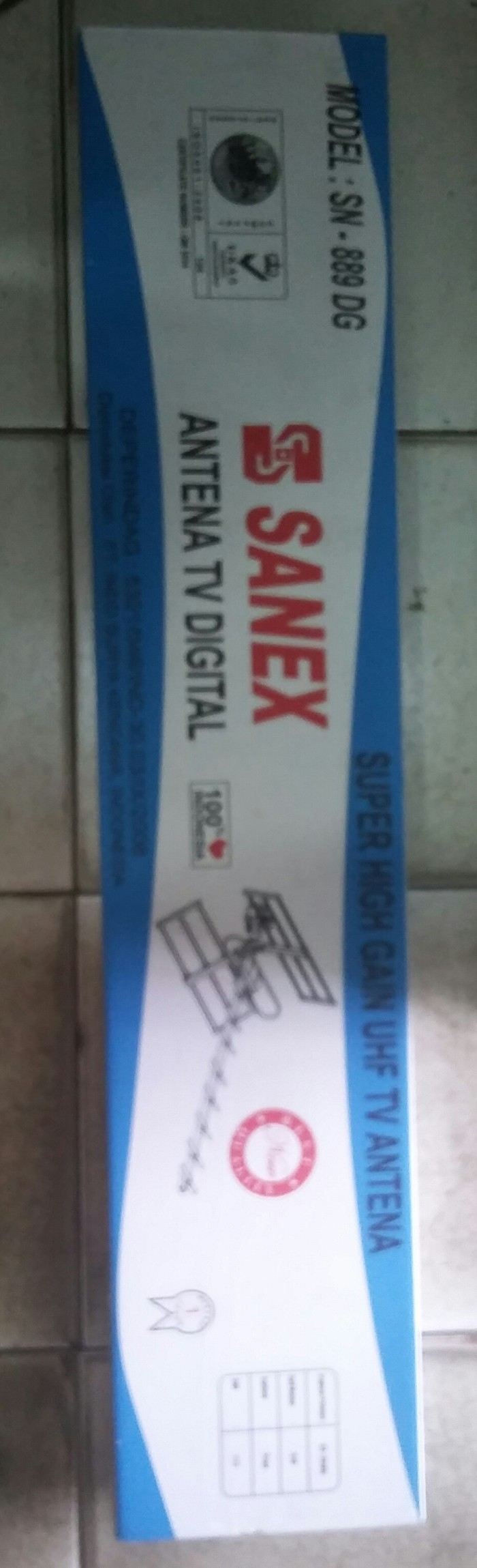Antena tv luar led,lcd / antena outdoor digital sanex + kabel… bawah