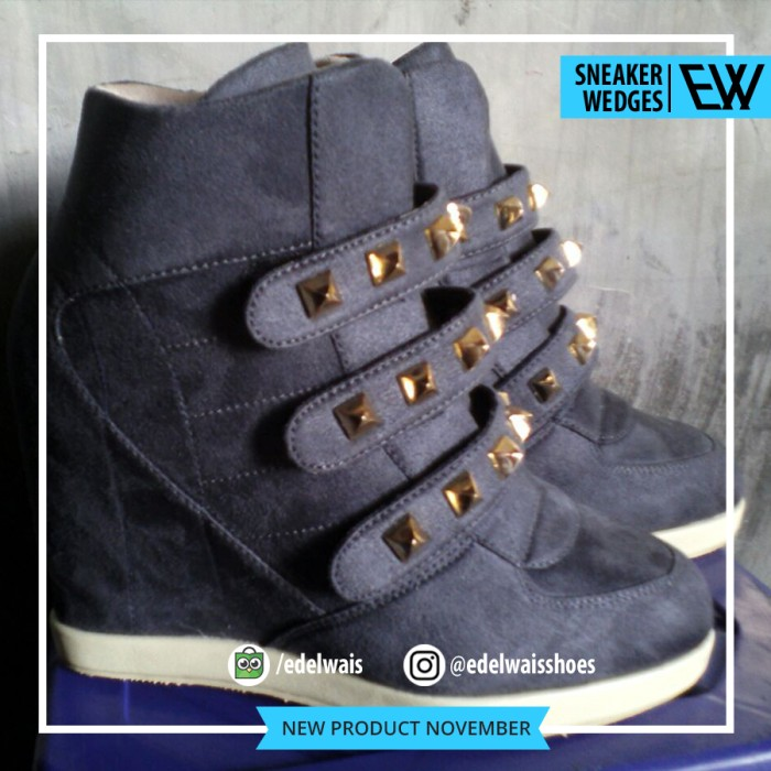 harga Sneaker hidden wedges sepatu wanita nike adidas docmart heels hitam Tokopedia.com