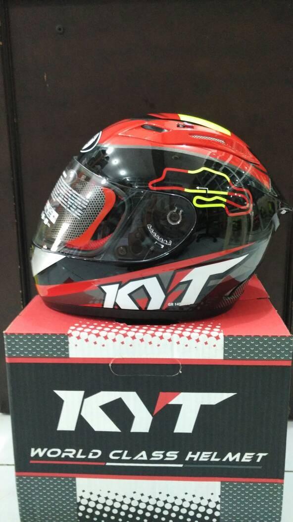 Helm KYT RC 7 Spain Black Red RC Seven RC7 Full Fullface Spanyol