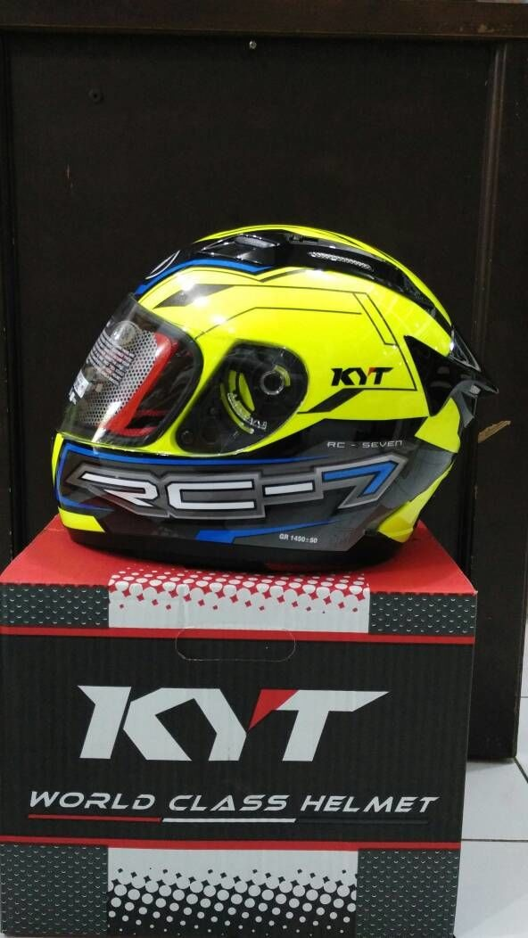 harga Helm kyt rc 7 black yellow rc seven rc7 full fullface super flou Tokopedia.com