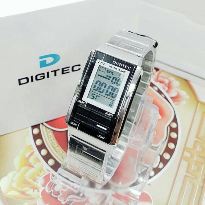 JAM TANGAN WANITA DIGITEC DG-3022T ORIGINAL RT SILVER LIST BLACK