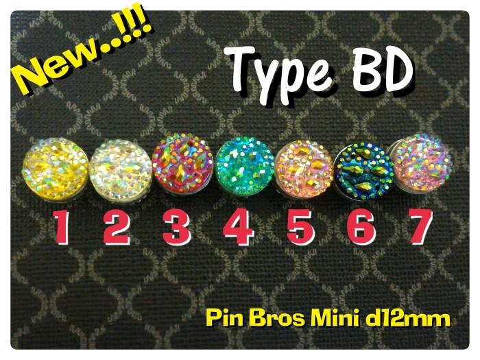 Pin Bros Bross Hijab Jilbab Kerudung Magnet d12mm Unik Mewah