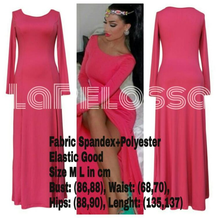 Foto Produk Pink LongDress Import Code IW dari LaPelosa Shop