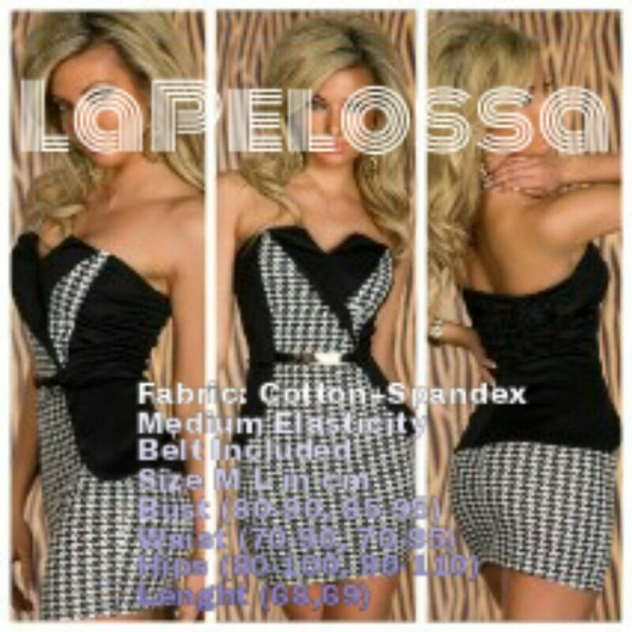 Foto Produk Square Mini Dress Import Code IW dari LaPelosa Shop