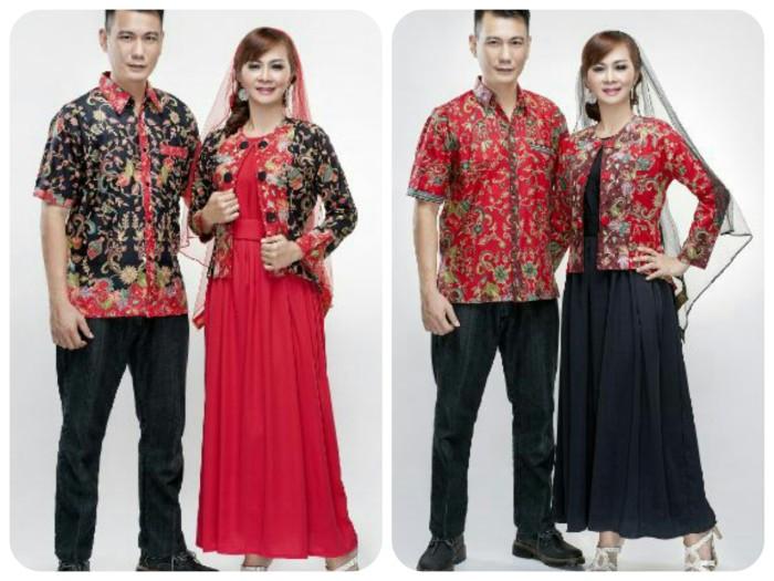 Batik Couple Gamis Zakia Rompi