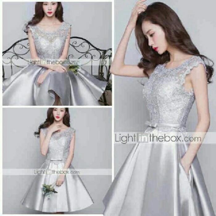Jual Daori Silver Dress Gaun Pesta Mewah Cantik Dki Jakarta