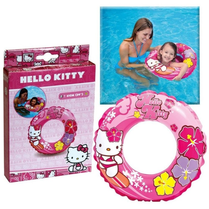 harga Intex ban renang bulat hello kitty swim ring 61 cm 56210 Tokopedia.com