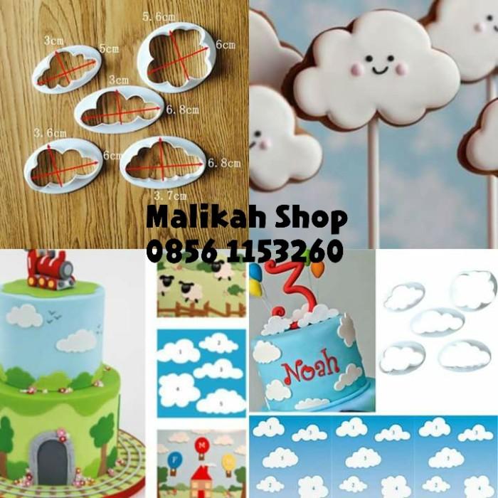 Cookies Cutter Awan Cloud (Cetakan Cookies Kue Kering Nugget Fondant)