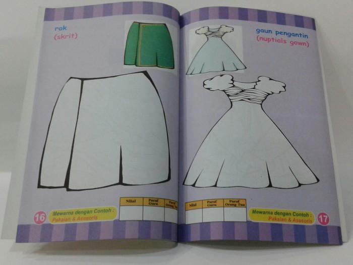 Jual Seri Kreatifitas Anak Paud Mewarnai Baju Buku Online Murah