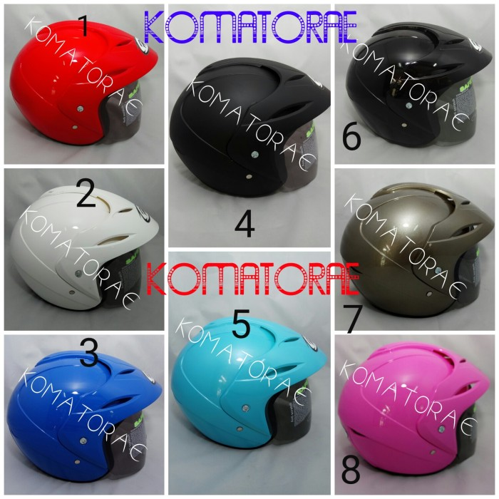 harga Helm hiu nico white black red black dop blue pink abu purple Tokopedia.com