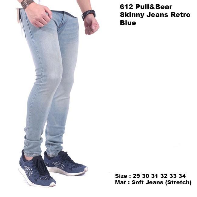 celana jeans panjang pria / celana panjang jeans cowok pria - Biru Muda, 29