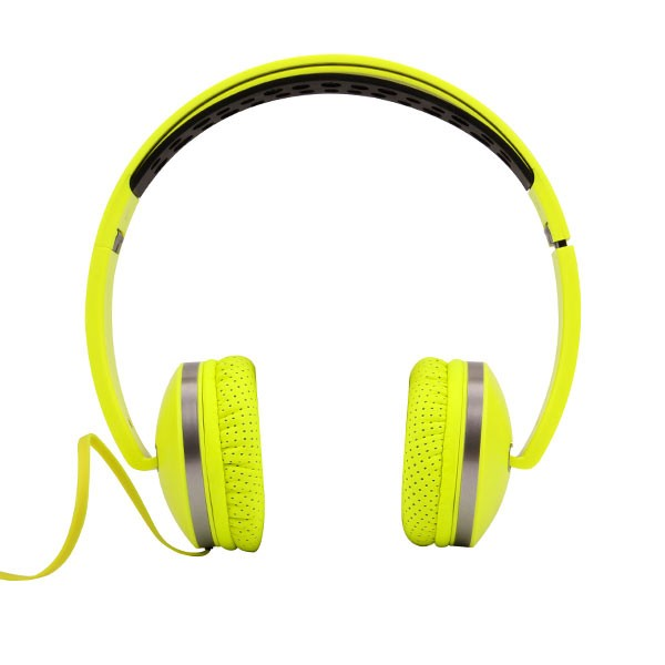 ROBOT Headphone Headset Fluorescent RH-P01 Foldable Stereo Wired Green
