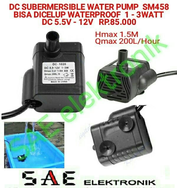 harga Dc submersible water pump pompa air for aquarium part elektronik st458 Tokopedia.com