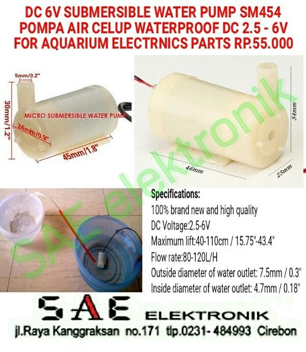harga Dc submersible water pump pompa air for aquarium and part st454 Tokopedia.com